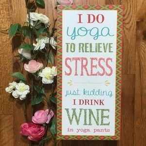 Boston Warehouse Red Yoga Wooden Wine Bottle Rack
